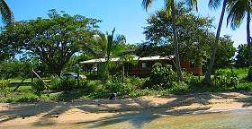 saweni beach house from the water